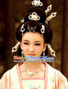 Handmade Chinese Han Dynasty Court Hairpins Traditional Hanfu Hair Clips Ancient Queen Hair Accessories for Women