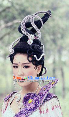 Handmade Chinese Swordswoman Hairpins Traditional Hanfu Hair Clips Ancient Queen Hair Accessories for Women