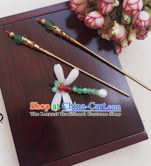 Handmade Chinese Palace Lady Dragonfly Hair Claw Hairpins Ancient Traditional Hanfu Hair Accessories for Women