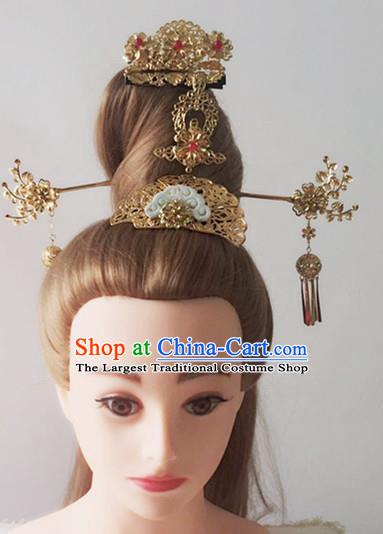 Handmade Chinese Palace Lady Cloud Hair Crown Hairpins Ancient Traditional Hanfu Hair Accessories for Women