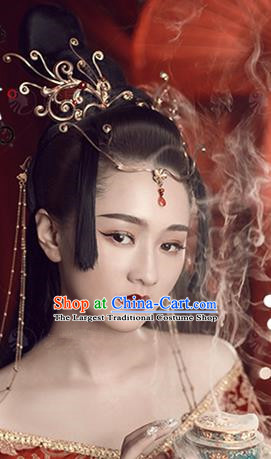 Chinese Handmade Hanfu Palace Phoenix Hair Crown Hairpins Traditional Ancient Imperial Consort Hair Accessories for Women