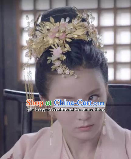 Chinese Handmade Hanfu Bride Hair Crown Hairpins Traditional Ancient Imperial Consort Hair Accessories for Women