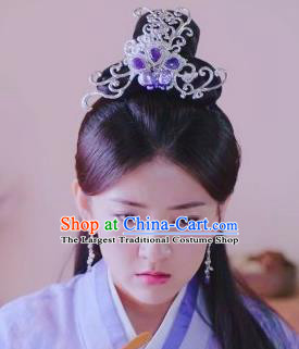 Chinese Handmade Hanfu Han Dynasty Hairpins Hair Crown Traditional Ancient Imperial Consort Hair Accessories for Women
