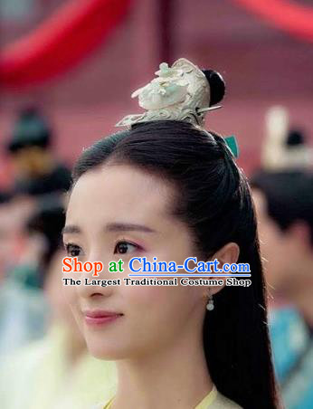 Chinese Handmade Hanfu Princess Hair Accessories Ancient Swordswoman Jade Hairdo Crown for Women