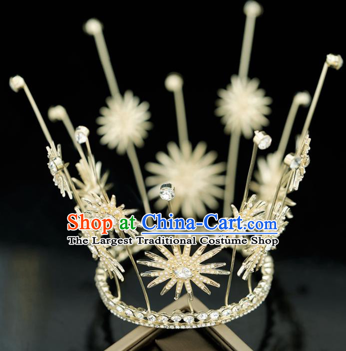 Top Grade Handmade Baroque Bride Royal Crown Princess Wedding Hair Accessories for Women