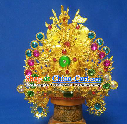 Handmade Chinese Traditional Immortals Crystal Helmet Hair Accessories Ancient Swordsman Hairdo Crown for Men