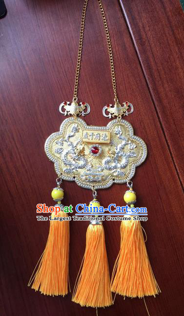 Chinese Handmade Hanfu Tassel Longevity Lock Necklace Traditional Ancient Necklet Jewelry Accessories for Women