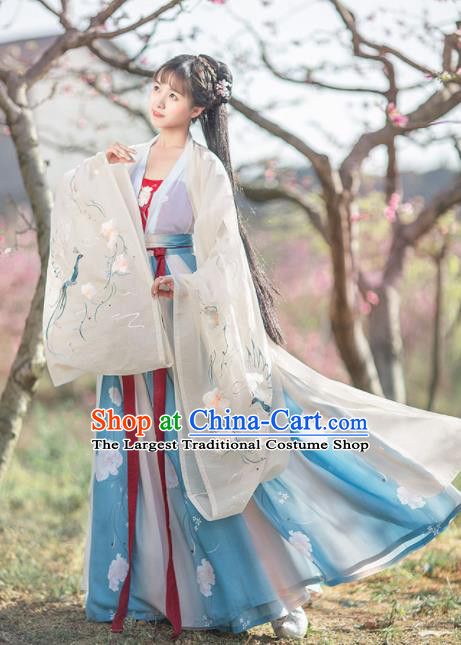 Chinese Ancient Peri Princess Hanfu Dress Traditional Tang Dynasty Imperial Consort Historical Costume for Women