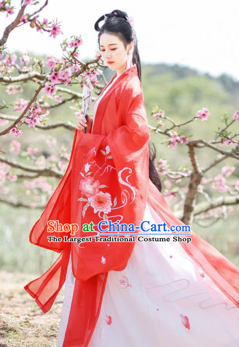 Chinese Ancient Rich Lady Wedding Hanfu Dress Traditional Tang Dynasty Princess Historical Costume for Women