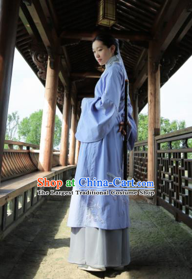 Chinese Traditional Ming Dynasty Historical Costume Ancient Taoist Nun Hanfu Dress for Women