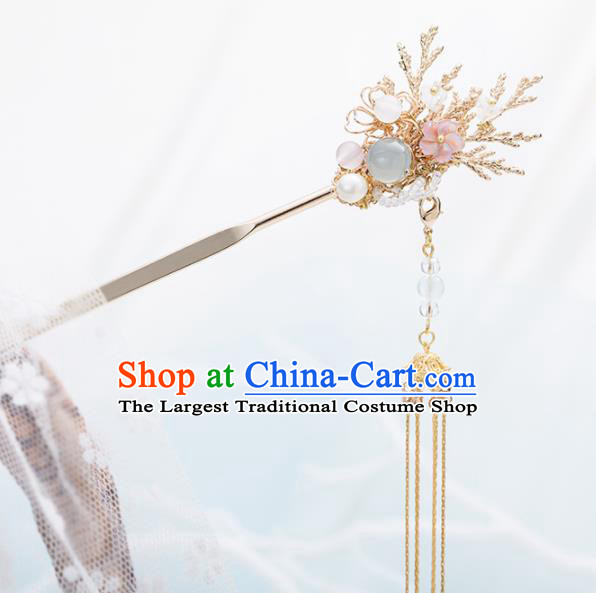 Chinese Handmade Hanfu Tassel Hair Clips Hairpins Ancient Princess Hair Accessories Headwear for Women