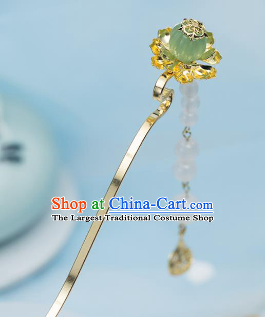 Chinese Handmade Hanfu Golden Hairpins Tassel Step Shake Ancient Princess Hair Accessories Headwear for Women