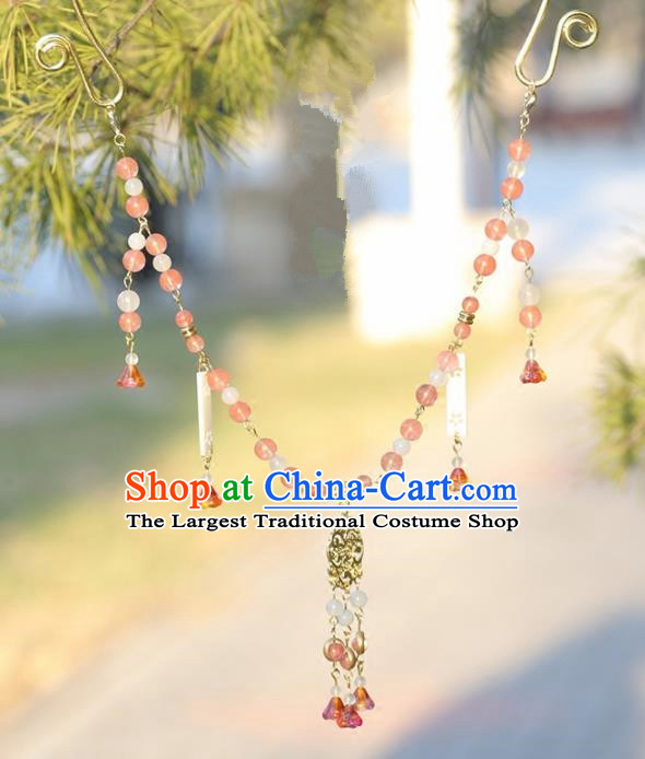 Handmade Chinese Classical Beads Necklace Ancient Palace Hanfu Necklet Accessories for Women