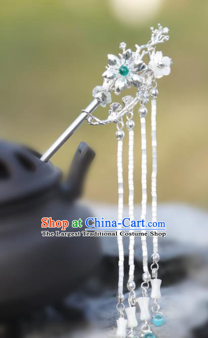 Chinese Handmade Hanfu Beads Tassel Hair Clip Hairpins Ancient Palace Princess Hair Accessories Headwear for Women