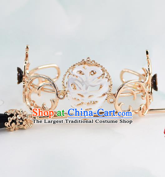 Chinese Traditional Swordsman Hair Accessories Ancient Prince Shell Hairdo Crown for Men