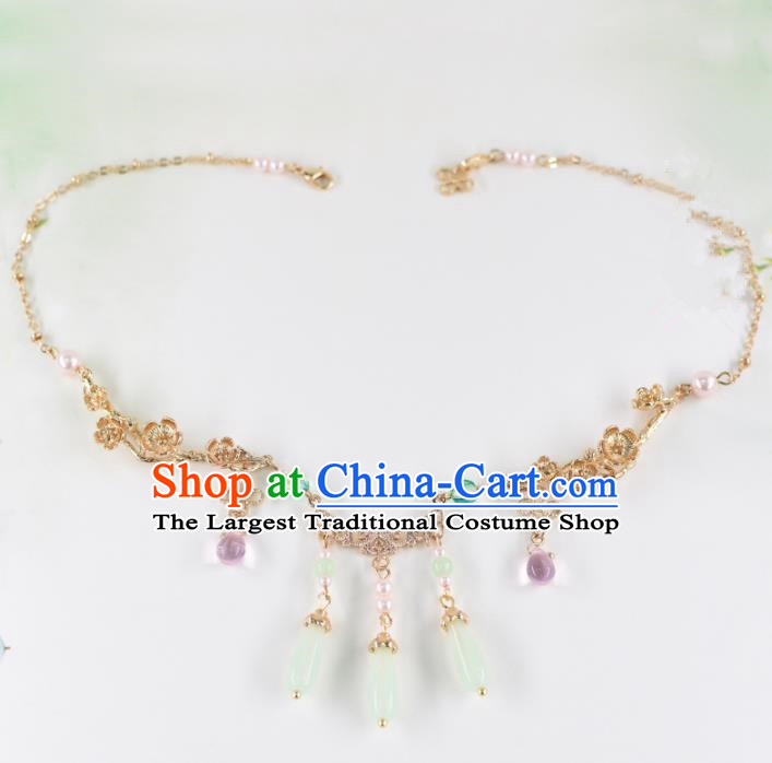 Chinese Handmade Palace Jade Eyebrows Pendant Hairpins Ancient Princess Hanfu Hair Accessories Headwear for Women