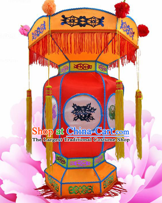 Handmade Chinese Red Palace Lanterns Traditional New Year Lantern Ancient Ceiling Lamp