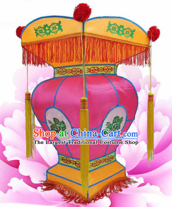 Handmade Chinese Palace Lanterns Traditional New Year Rosy Lantern Ancient Ceiling Lamp