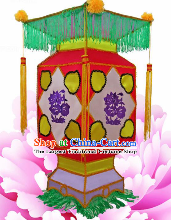 Handmade Chinese Palace Lanterns Traditional New Year Red Lantern Ancient Ceiling Lamp