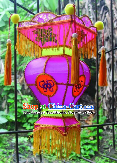Chinese Handmade Purple Palace Lanterns Traditional New Year Lantern Ancient Ceiling Lamp
