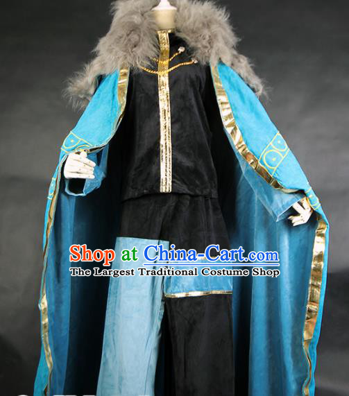 Chinese Traditional Cosplay Knight Costume Ancient Swordsman Hanfu Clothing for Men