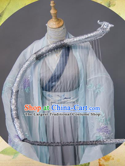 Chinese Traditional Cosplay Swordswoman Costume Ancient Jin Dynasty Princess Hanfu Dress for Women
