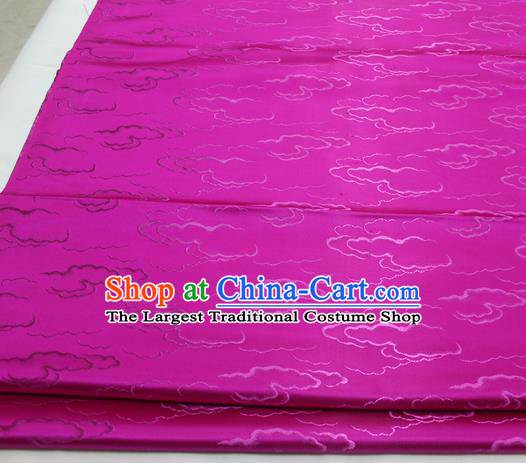 Chinese Traditional Tang Suit Royal Clouds Pattern Rosy Brocade Satin Fabric Material Classical Silk Fabric
