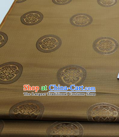 Chinese Traditional Tang Suit Fabric Royal Lucky Pattern Bronze Brocade Material Hanfu Classical Satin Silk Fabric