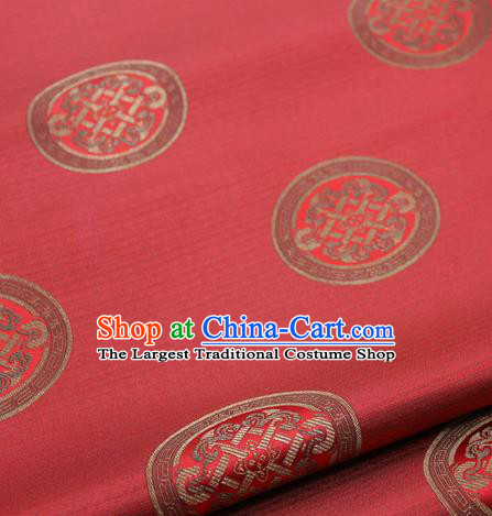 Chinese Traditional Tang Suit Fabric Royal Lucky Pattern Red Brocade Material Hanfu Classical Satin Silk Fabric
