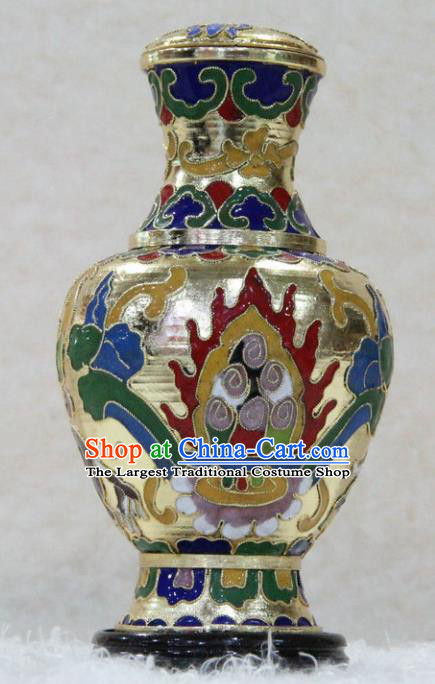 Chinese Traditional Buddhism Cloisonne Vase Feng Shui Items Vajrayana Buddhist Merni Decoration
