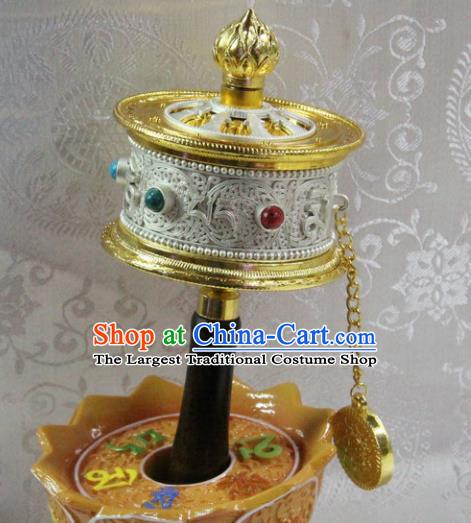 Chinese Traditional Buddhism Prayer Wheel Feng Shui Items Vajrayana Buddhist Decoration