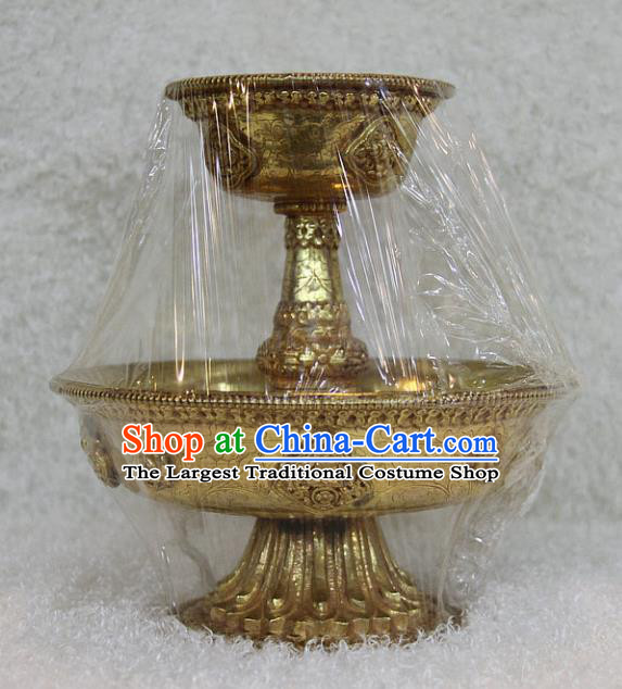 Chinese Traditional Buddhist Brass Bowl Buddha Cup Decoration Tibetan Buddhism Feng Shui Items