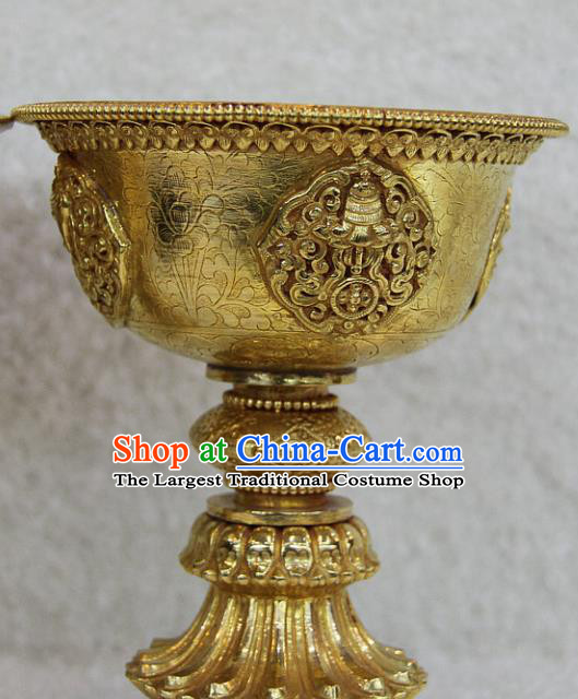 Chinese Traditional Buddhist Copper Lampstand Buddha Cup Decoration Tibetan Buddhism Feng Shui Items
