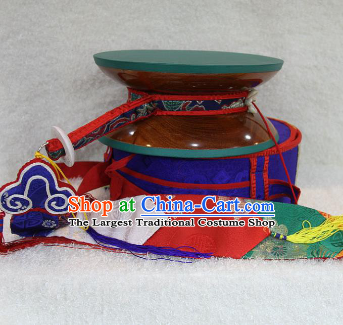 Chinese Traditional Feng Shui Items Buddhism Musical Instruments Tabour Buddhist Sandalwood Drum