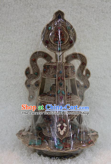 Chinese Traditional Buddhist Offersacrifice Copper Vase Buddha Bottle Decoration Tibetan Buddhism Feng Shui Items