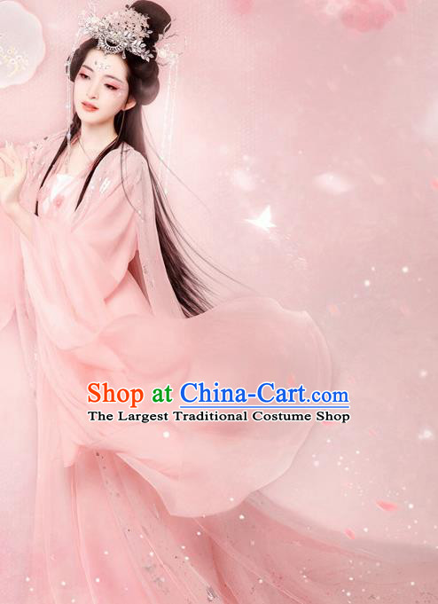 Chinese Ancient Fairy Goddess Hanfu Dress Traditional Tang Dynasty Palace Princess Historical Costume for Women