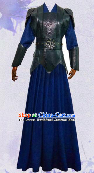 Chinese Ancient Swordswoman Hanfu Dress Traditional Female Knight Historical Costume for Women