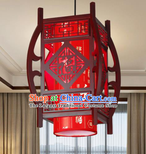 Chinese Traditional Hanging Lantern Handmade New Year Wood Palace Lanterns Ceiling Lamp