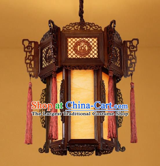 Chinese Traditional Wood Carving Palace Lantern Handmade Hanging Lanterns Ceiling Lamp