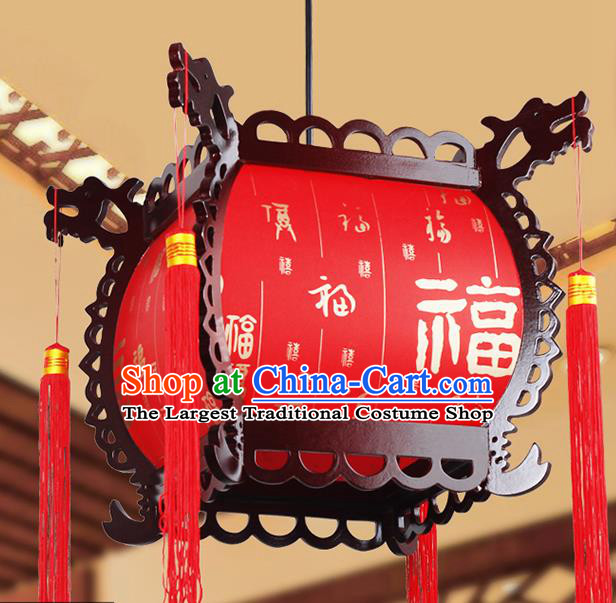 Chinese Traditional New Year Red Palace Lantern Handmade Hanging Lanterns Ceiling Lamp