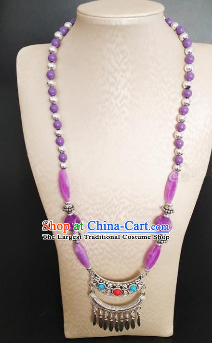 Traditional Chinese Mongol Nationality Accessories Mongolian Ethnic Folk Dance Necklace for Women