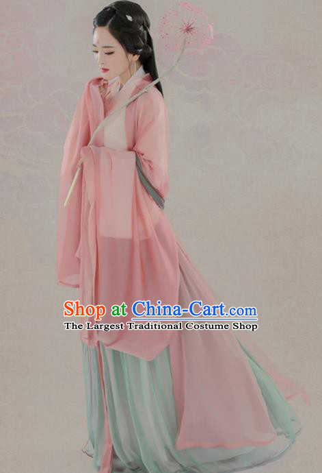 Chinese Ancient Court Princess Hanfu Dress Traditional Han Dynasty Imperial Consort Historical Costume for Women