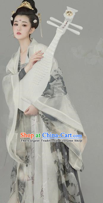 Chinese Ancient Palace Concubine Hanfu Dress Traditional Tang Dynasty Queen Historical Costume for Women