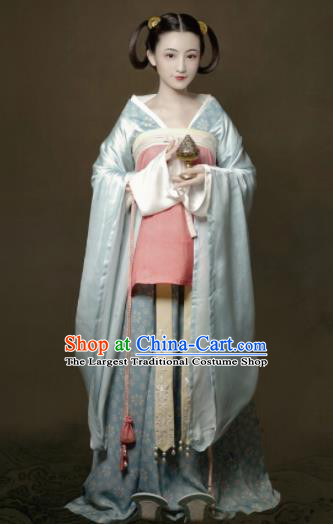Chinese Jin Dynasty Court Lady Dress Traditional Ancient Hanfu Clothing Princess Historical Costume for Women