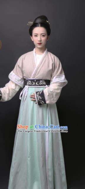 Chinese Tang Dynasty Court Lady Dress Traditional Ancient Palace Princess Hanfu Historical Costume for Women