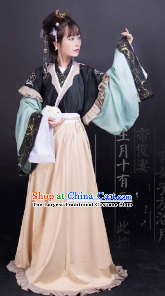 Chinese Jin Dynasty Palace Princess Dress Traditional Ancient Hanfu Historical Costume for Women