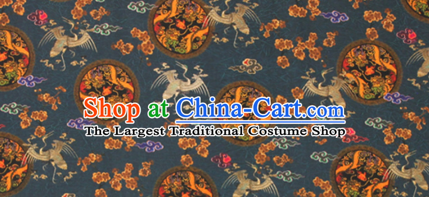 Marvelous 100% Pure Silk Round Dragon Pattern Fabric Chinese Royal Silk Fabrics