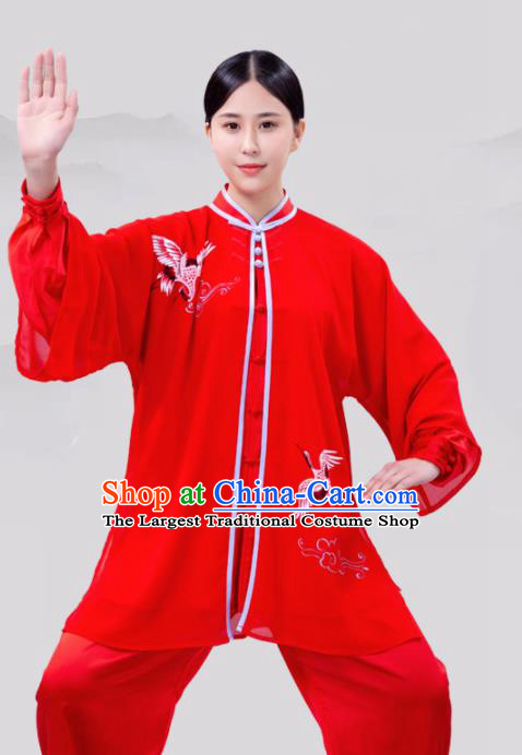 Chinese Traditional Martial Arts Competition Costume Tai Ji Kung Fu Training Clothing for Women