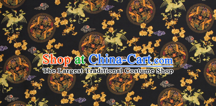 Ancient Palace Style 100% Pure Silk Round Dragon Pattern Fabric Chinese Royal Silk Fabrics