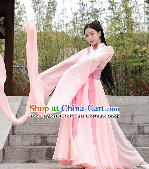 Chinese Ancient Dunhuang Flying Apsaras Dance Hanfu Dress Han Dynasty Palace Princess Historical Costume for Women